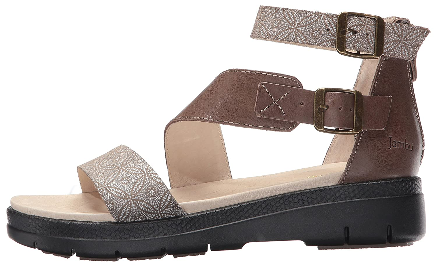 Jambu Women's Cape May Wedge Sandal B01IDQMMVM 6 B(M) US|Taupe Print