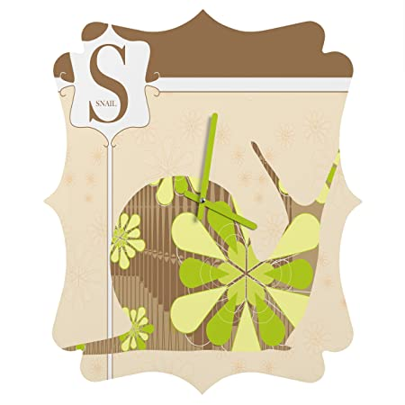 Deny Designs Jennifer Hill, Mister Snail, Quatrefoil Clock, Small