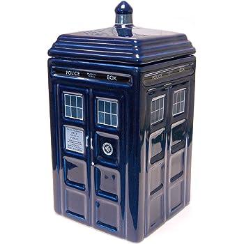 Amazon Com Doctor Who Tardis Cookie Jar Lights Amp Sounds