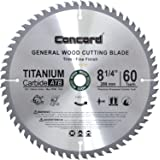 Concord Blades WCB0825T060HP 8-1/4-Inch 60 Teeth TCT General Purpose Hard & Soft Wood Saw Blade