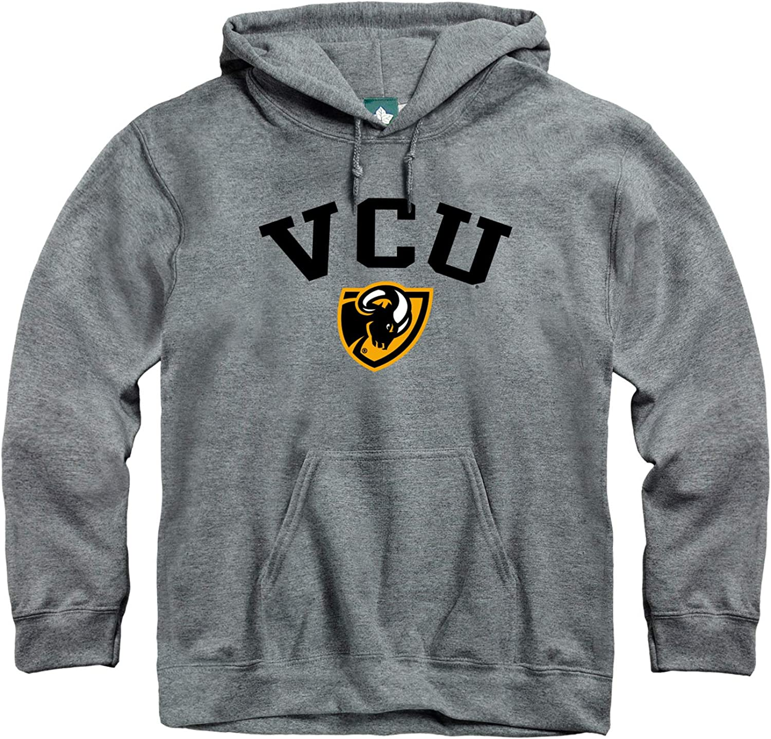 Cotton//Poly Blend NCAA Colleges and Universities Heritage Logo Grey Ivysport Hooded Sweatshirt