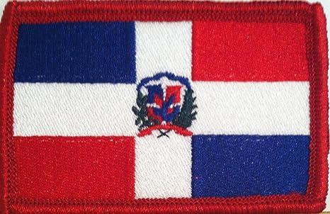Republica dominicana bandera emblema bordado parche para planchar ...