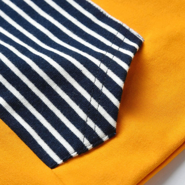 AmzBarley Baby Toddler Boys Girls Stripe Hooded Long Sleeve Shirt Floral Pants Hoodie Outfits Set