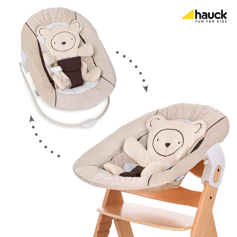 Sitzpolster Natur Beige Aufsatz f/ür NeugeboreneB/ärchen beige Baby Holz Hochstuhl ab Geburt mit Liegefunktion//inkl Hauck Beta Plus Newborn Set h/öhenverstellbar Tisch//mitwachsend