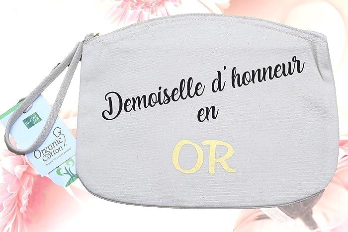 Trousse Demoiselle Dhonneur En Or Coton Bio Cadeau