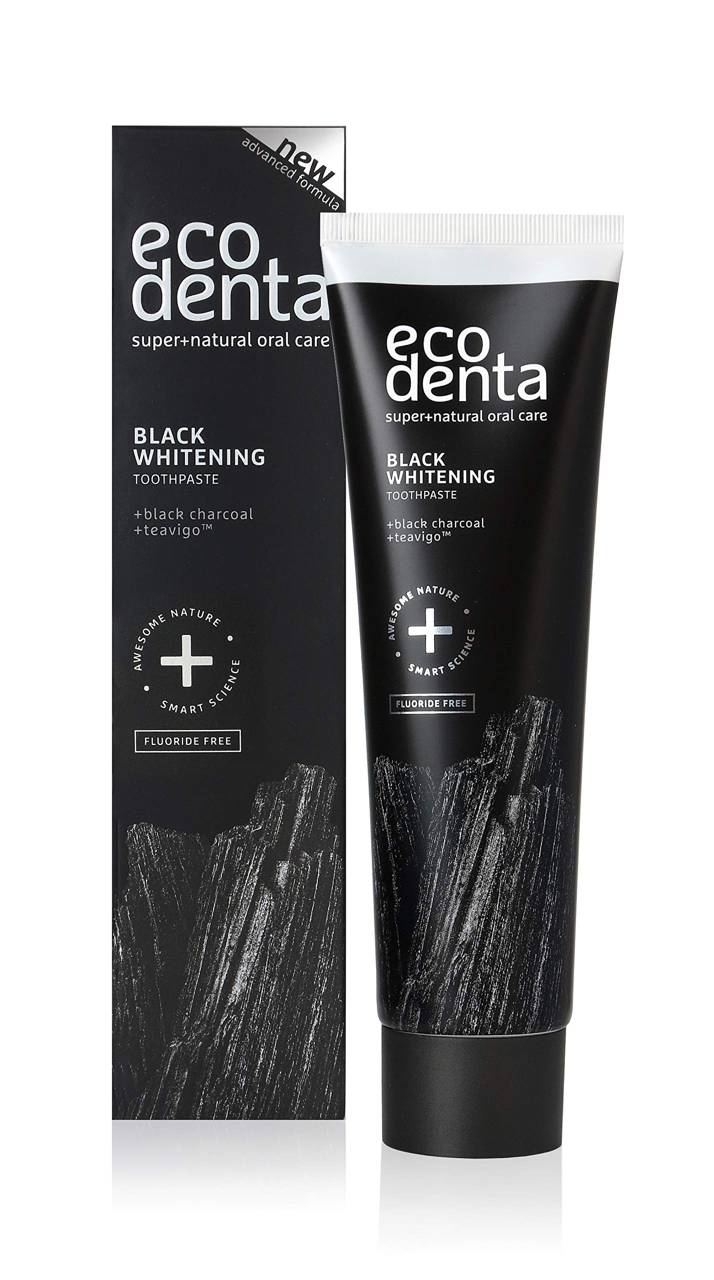 Ecodenta Charcoal and Teavigo Whitening Toothpaste, 3.4 Ounce
