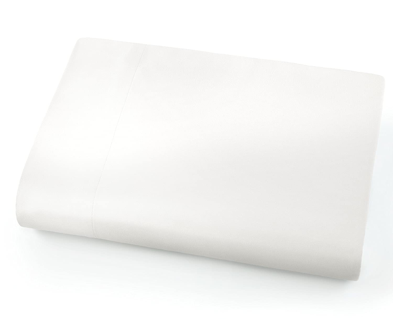Southshore Fine Linens - Oversized Flat Sheets Extra Large - 132 Inches x 110 Inches (Bright White)
