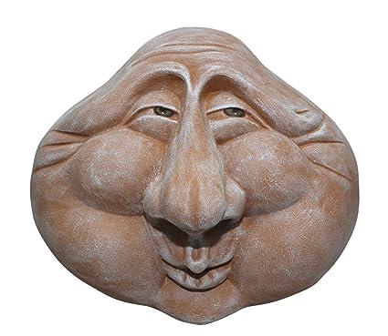 Steinfigur Steinkopf Steingesicht Deko Skulptur Gartenskulptur Geschenkidee