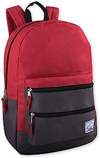 Multi-Color Back Pack with Adjustable Padded Shoulder Straps (Red)