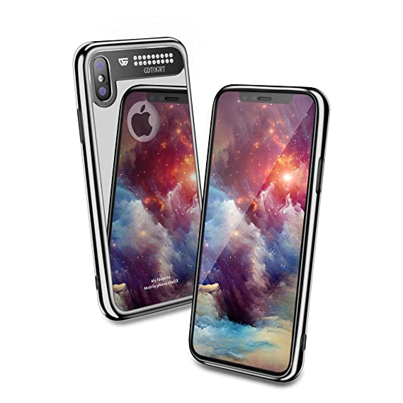new style 48c16 f6605 iPhone X Case,Tempered Glass Mirror Hard Back Luxury Bling Diamond Design  Cute Glitter Hard Drop Protection Scratch-Resistant Slim Bumper [ Shock ...