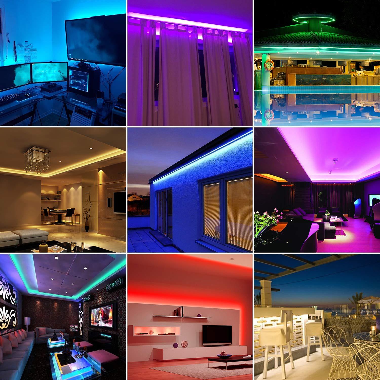 Led Strip Lights, 32.8ft/10M SMD5050 Waterproof RGB Strip Lights, Color Changing Led Strip Lighting with 44 Key Remote Controller for Home Kitchen Bed Flexible Strip Lights for Bar Home Decor