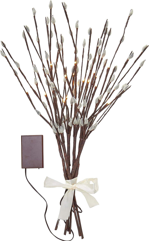 Batterien 16 warmwei/ße LED Northpoint LED Fr/ühlingszweige Pflanze Dekozweige Pfirsichbl/üte Pfirsichzweige Lichterzweige Dekoration 54cm hoch Timerfunktion inkl