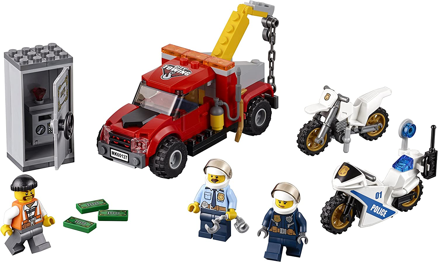 LEGO City Police Tow Truck Trouble 60137 Building Toy Discontinued by Manufacturer 144 Pieces