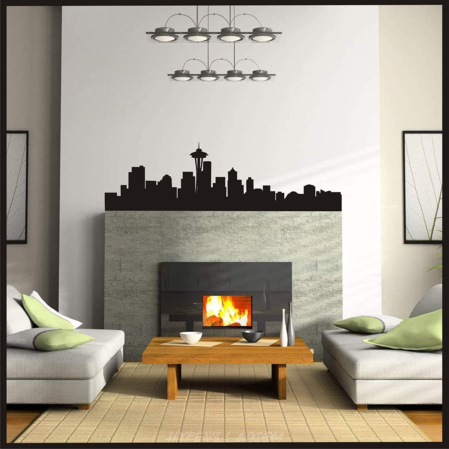 Amazon.com: Seattle Skyline   Wall Art 206 Washington Decor Vinyl Decal  Home (21 Part 65
