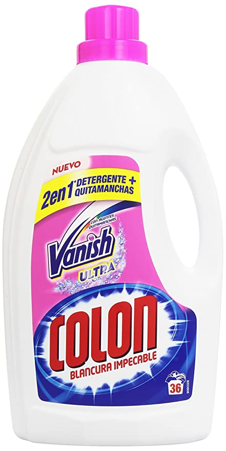 Vanish Ultra Colon Blancura Impecable 2 en 1 Detergente + Quitamanchas - - 2376 ml