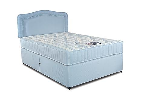 Simmons Cumfilux Ortholux canapé y colchón Set, Tela, Azul, Doble (135 x