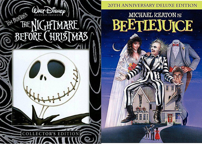 Amazon.com: Tim Burton Beetlejuice Movie DVD & The Nightmare Before ...