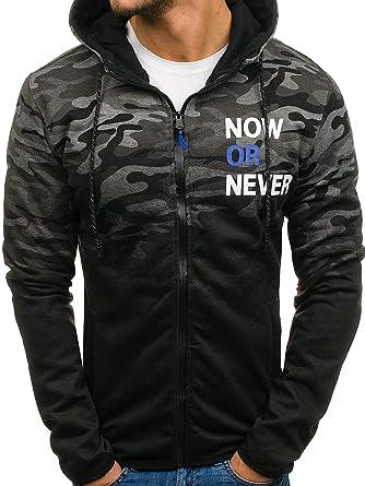 BOLF Herren Kapuzenpullover Sweatjacke Sweatshirt Pulli Hoodie Camo Army  Militar 1A1 Mix  Amazon.de  Bekleidung 4c54e78b79