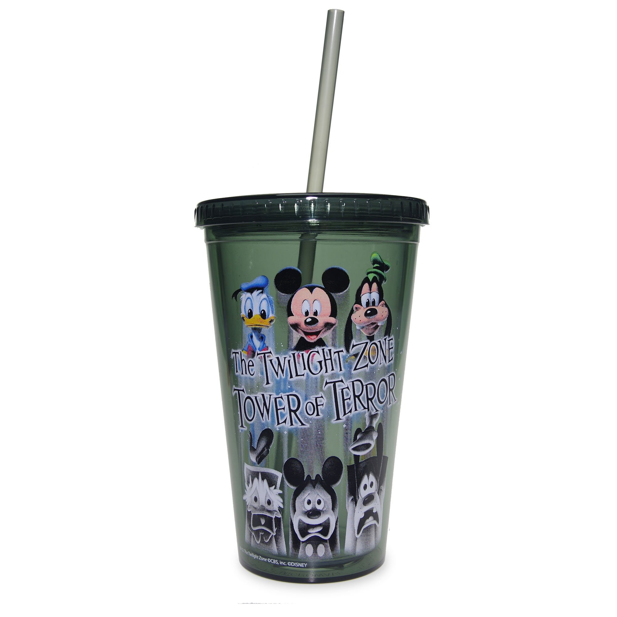 Disney Parks Hollywood Hotel The Twilight Zone Tower of Terror Tumbler with Straw Drink Cup