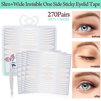 540Pcs Invisible Fiber Single Side Double Eyelid Tape Stickers - Instant  Eye Lift Without Surgery -