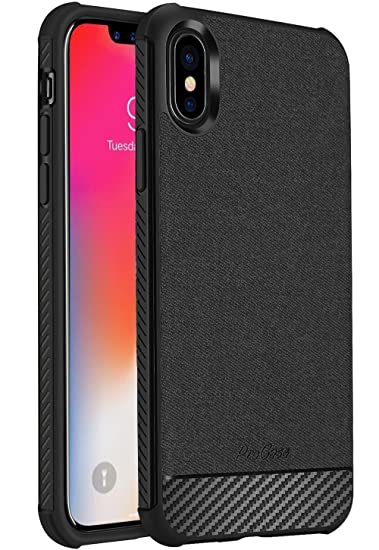 iPhone X Case / iPhone 10 Case, ProCase Slim Hybrid Shockproof Protective Case Anti-Fingerprint Back Cover for Apple iPhone X / iPhone 10 (2017 ...