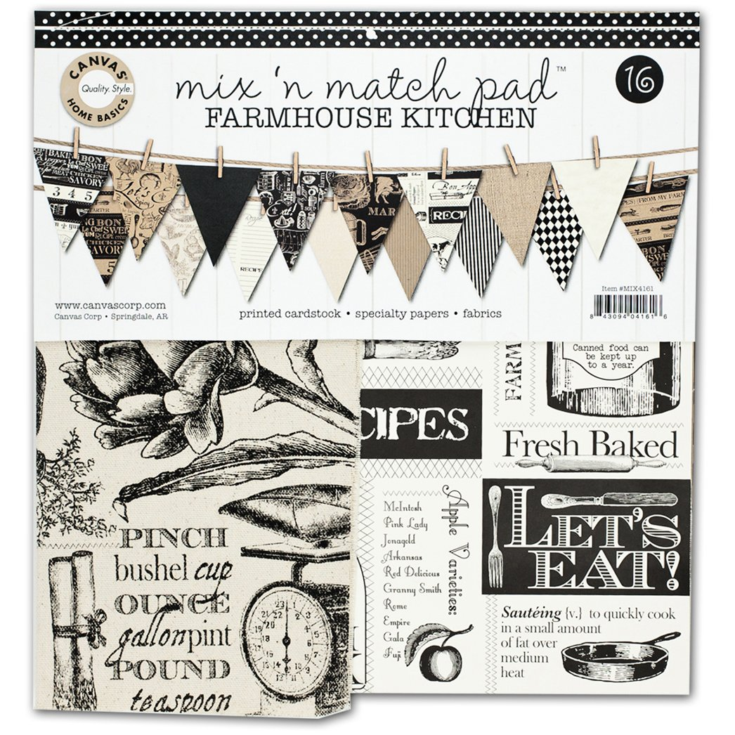 Canvas Corp Canvas Mix and Match Pad, 12'', Farmhouse Kitchen by Canvas Corp