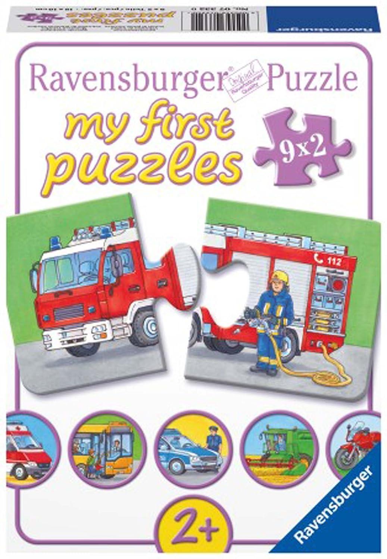 Ravensburger Emergency Vehicles Jigsaw Puzzle 9 x 2 Piece C /& J Direct GmbH /& Co KG 73320