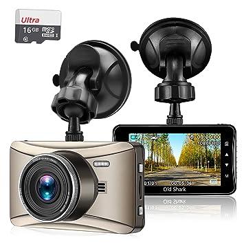 Cámara para salpicadero de coche con tarjeta de 16 GB, OldShark 1080P Sony Sensor cámara