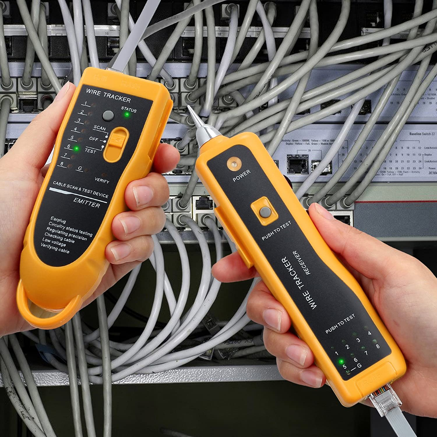 Network Tester Xq 350 Handheld Cable Tracer With Earphone High Featured Electrical Circuit Tracers And Testers At Test Equipment Sensitive Telephone Wire Tracker