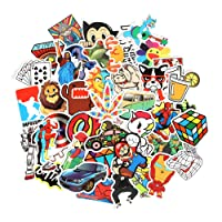 Baybuy Random Cool Stickers 100pcs/pack Variety Vinyl Car Sticker Motorcycle Bicycle Luggage Decal Graffiti Patches Skateboard Stickers for Laptop Stickers (series AA)