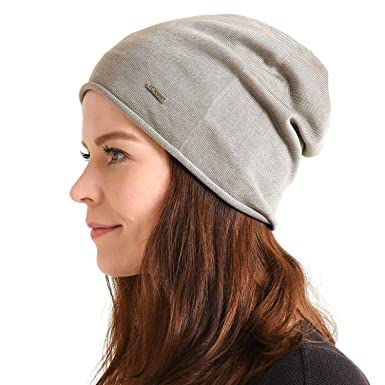 0d7906d81fe Silk Beanie Hat for Men and Women - Soft Slouchy Mens Beanie Cap Summer  Sensitive Skin