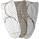 Swaddle Blanket, Adjustable Infant Baby Wrap Set by Ziggy Baby