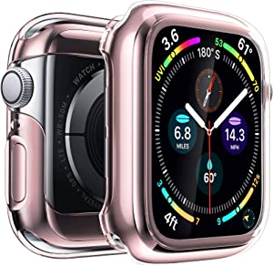 Penom Case for New Apple Watch SE Series 6 Screen Protector 40mm(2020), Apple Watch Series 5 Series 4 Case (40mm, Rose Gold)