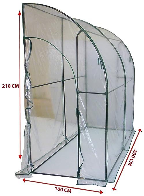 11 opinioni per Serra casetta a parete da giardino copertura per orto piante fiori 200x100h210