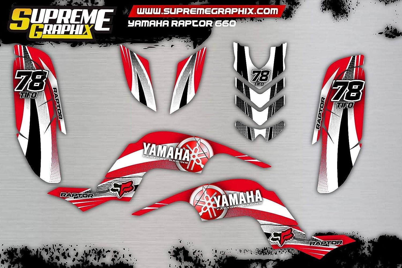 Kit Adhesivos Mate Yamaha Raptor 660 ADESIVI Sticker KLEBER AUFKLEBER