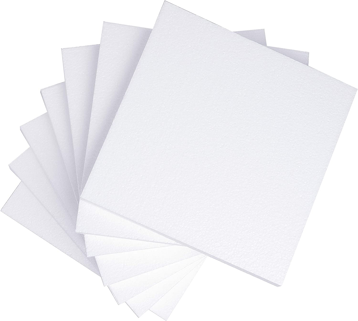 Silverlake Craft Foam Block - 7 Pack of 10x10x1 EPS Polystyrene Sheet for Crafting, Modeling, Art Projects and Floral Arrangements - Sculpting Panels for DIY School & Home Art Projects