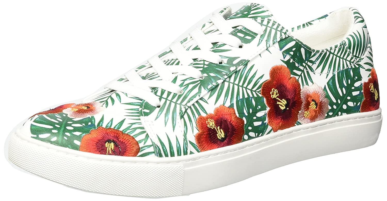 Kenneth Cole New York Women's Kam Palm Print Lace-up Sneaker B079ZVJK2T 9.5 B(M) US|Green/Multi
