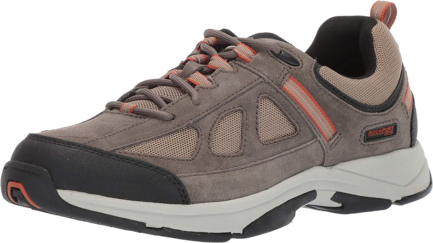 Rockport Men/'s Rock Cove Lace Up Taupe Suede