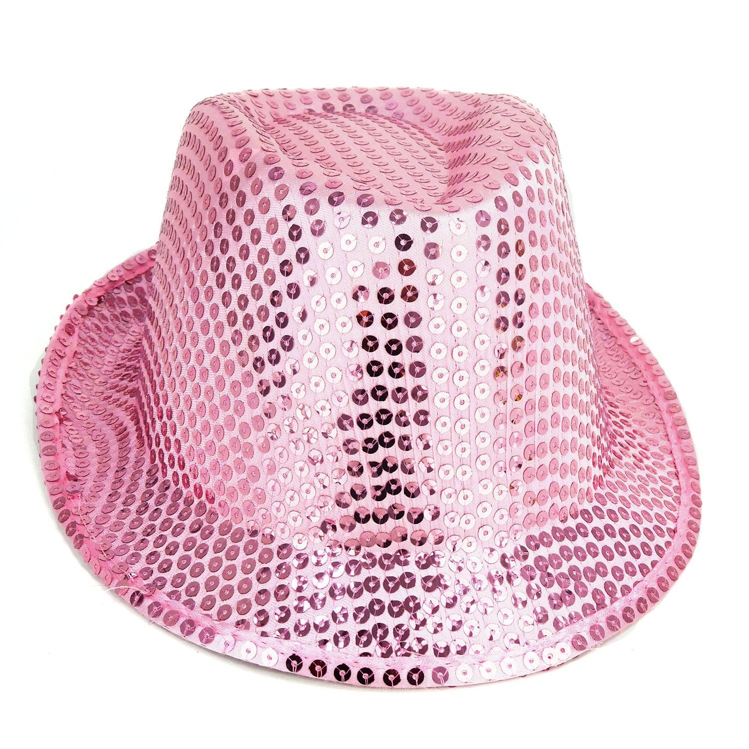 Pack Of 24 - 27cm x 14cm Pink Sequin Trilby Hats - Fancy Dress - Stag / Hen Night Accessories