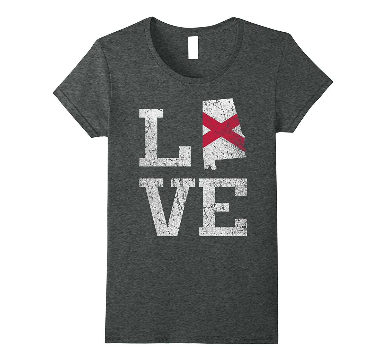 Love Alabama T-Shirt Heart Of Dixie Home Tee-Teehay