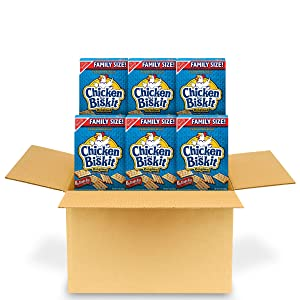 Chicken in a Biskit Original Baked Snack Crackers, Family Size, 6 - 12 oz Boxes