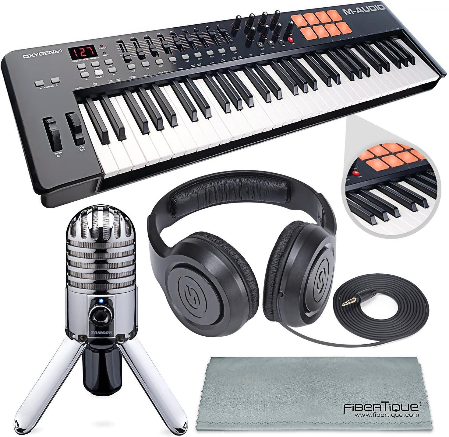 M-Audio Oxygen 49 MK IV 49 teclas USB MIDI teclado/controlador de tambor Pad con descarga de software VIP y micrófono Samson Meteor Micrófono USB ...