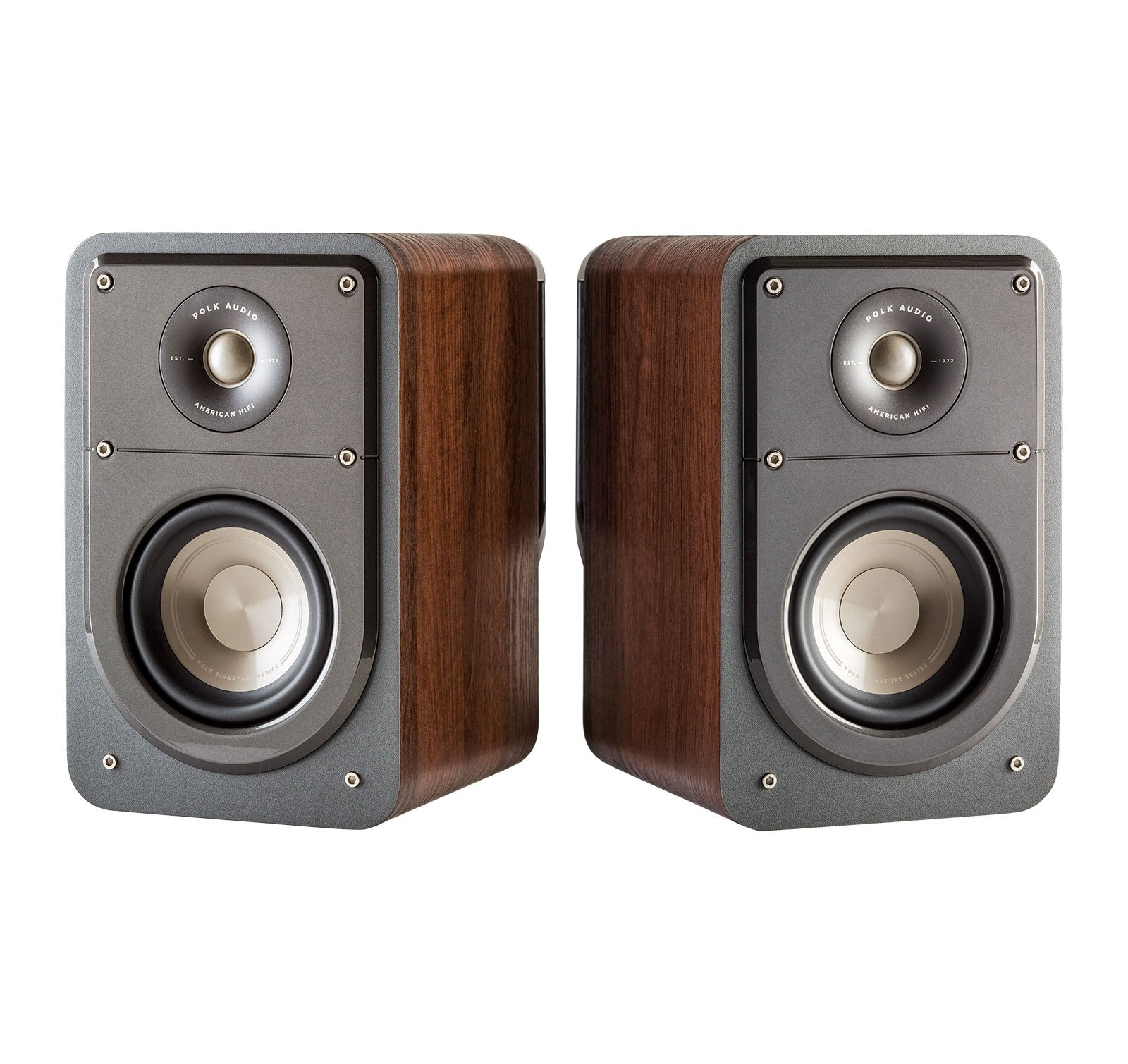 Polk Audio Signature Series S15 American Hi-Fi Home Theater Small Bookshelf Speakers - Pair (Classic Brown Walnut) by Polk Audio