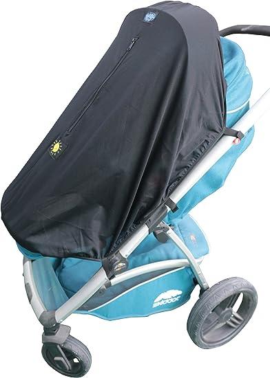Protecci/ón UV negro negro ajuste universal para cochecitos y carritos de 3 o 4 ruedas Parasol para carrito de beb/é