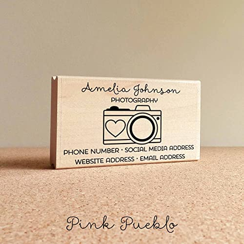 Amazon personalized photography business card stamp camera personalized photography business card stamp camera business card rubber stamp reheart Gallery