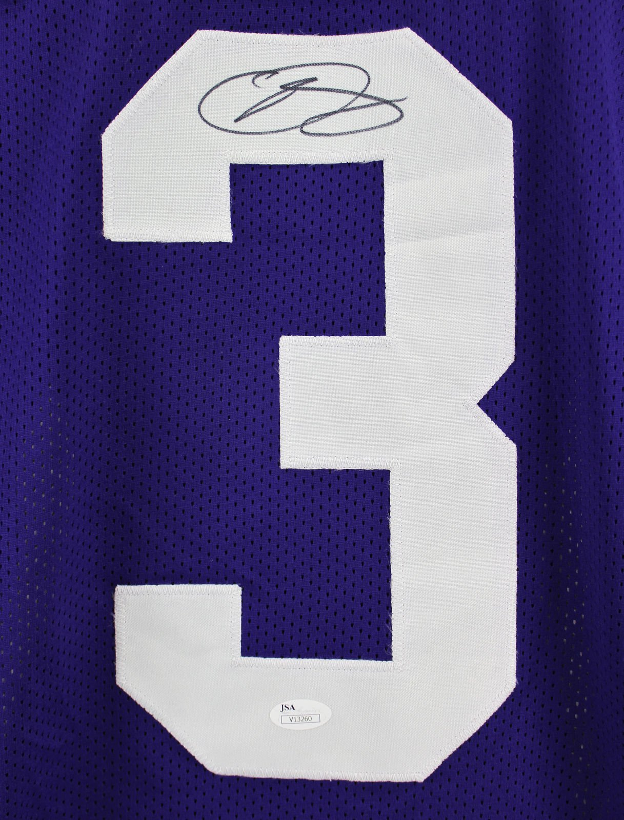 Odell Beckham Jr. LSU Tigers Signed Purple Custom Style Jersey JSA 136669