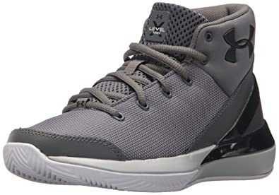 d0392eca58c Under Armour Boys  Grade School X Level Ninja Basketball Shoe Graphite  (100)