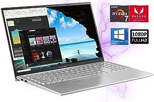 "ASUS VivoBook 15.6"" Laptop - AMD Ryzen 7 3700U - 12GB RAM, 512GB NVMe SSD – Full HD Radeon RX Vega 10 Graphics, HDMI, USB Type-C, 9hr Battery, Wi-Fi, Bluetooth – Windows 10 Pro"