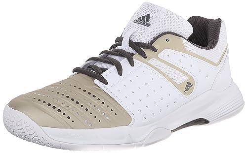 8347851f3c72 adidas Performance Women s Court Stabil 12 W Volleyball Shoe White Star  Metallic Grey
