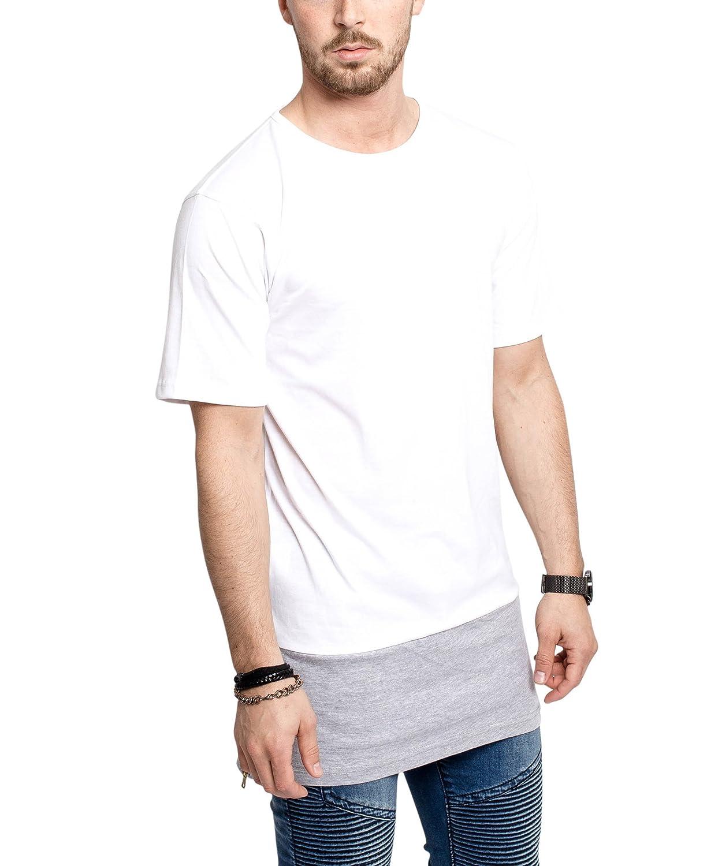 finest selection 82d49 3fd64 Phoenix Oversized Longline Side Zip T-Shirt Mens Longshirt